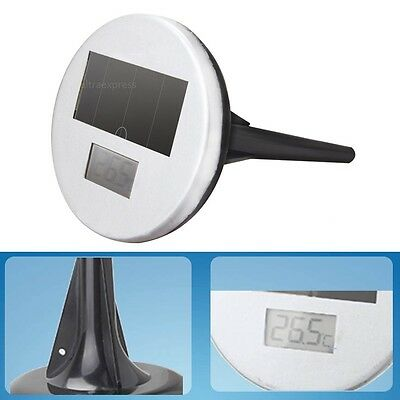 Solar Powered Pond Floating LED Instant Read Digital Thermometer Temperature