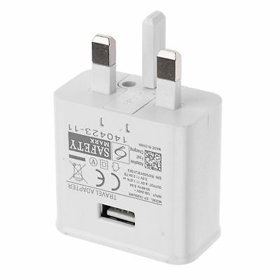UK Main Wall Mains Fast Charger Plug for Samsung Galaxy S6 S7 Edge Plus Note 4 5