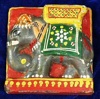antique wooden hand carved elephant statues figure from india size 12 cms