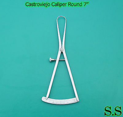 Castroviejo Caliper Round 0-40mm 7 Surgical Dental Instruments