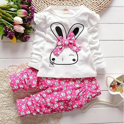 Winter Baby Toddlers Girls Pullover Tops + Pants 2PCS Outfits Set Kids Clothes
