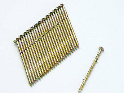 Bostitch BOSS310R90G8 28° Galvanised Ring Shank Stick Nails 3.1 x 90mm Pack of 2