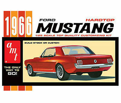 1966 Ford Mustang Hardtop -- Plastic Model Car Kit -- 1/25 Scale -- #704 AMT