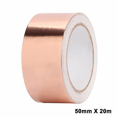 High Quality Copper Foil 20Mx50MM Shielding Screening Tape Conductive Adhesive