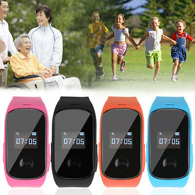 Kids Aged Smart Watch Anti-lost SOS Call Locator GPS LBS Tracker Safe E5