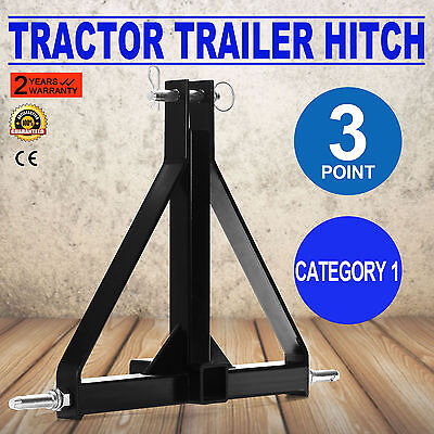 """3 Point 2"""" Receiver Trailer Hitch Tractor Drawbar Pull Category 1 Quick Attach"""