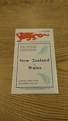 Wales v New Zealand 1905 (1981 Reprint) Rugby Union Programme