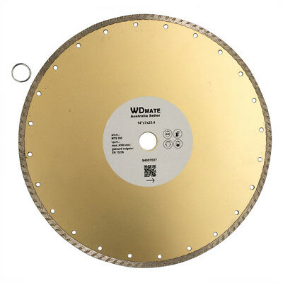 "350mm Diamond Cutting Wheel Disc Dry Wet Turbo HD Saw Blade 14"" Concret 94007027"