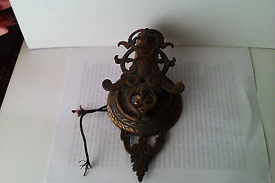 Antique Victorian/Edwardian/Art Nouveaux Bronze Wall Sconce with switch.