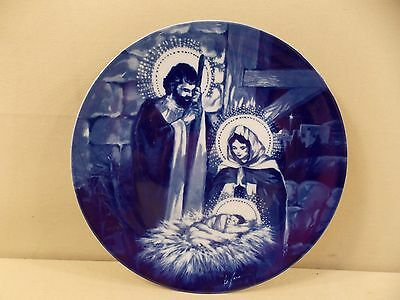 """Avon """"The Holy Family"""" Porcelain 1991 Collector's Plate 8"""""""