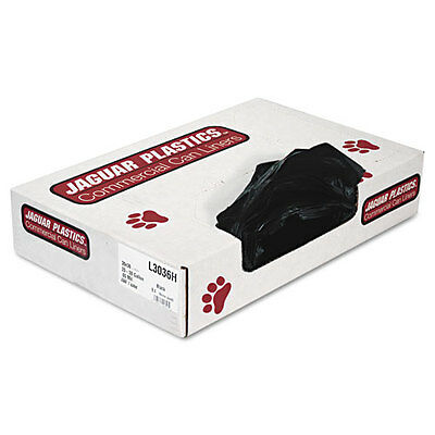 Jaguar Plastics Low-Density Can Liners, 20-30 Gallon, .65mil, Black, 200/Carton