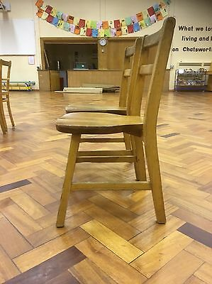 Vintage Children's Wooden School Chair