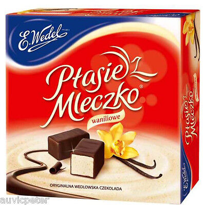 E.Wedel Delicate Soft Vanilla Flavoured Marshmallow Covered in Chocolate 380g.