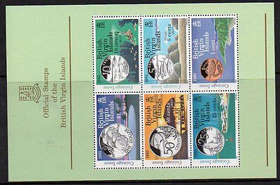 British Virgin Islands 1985 New Coinage Coins And Local Scenery U/m M/s