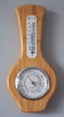 William Widdop Vintage Banjo Style Barometer & Thermometer