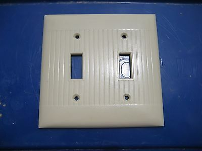 Vintage ***SIERRA ELECTRIC*** 2-Gang Toggle Switch Wall Plate USA