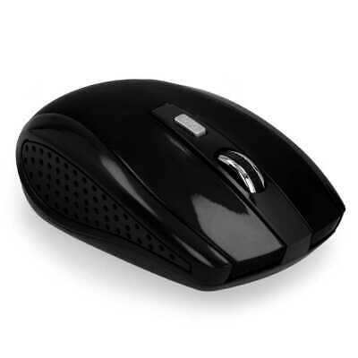 Mouse Ottico Wireless USB per Laptop PC MAC 1600DPI Senza Fili Nero 2,4G 1600DPI