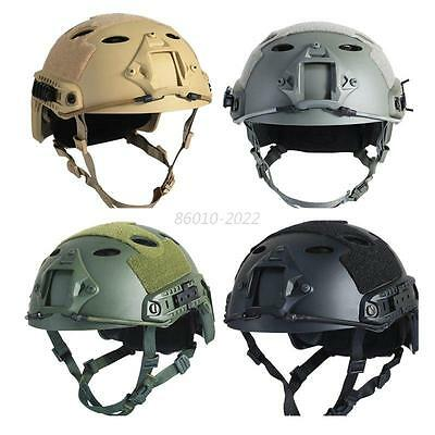 Solid Military Tactical Airsoft Paintball SWAT Base Jump Protective Fast Helmet