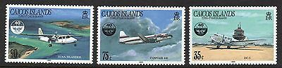 Caicos Islands 1985 International Civil Aviation Organisation SG 78 - 80 un/mint