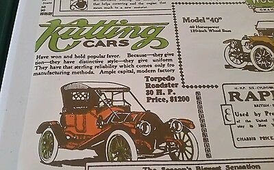 Vintage Wallpaper of Antique Cars & Auto Ads, Crafting, 5+ Yards, NICE