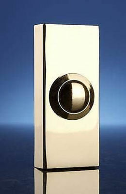 Byron 2204Bs Bell Push Button Wired Surface Mount Polished Brass 74x32x20mm