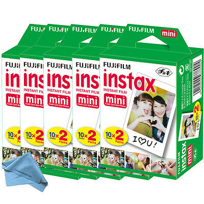 100 Prints Fujifilm instax Mini Film w Cloth f/ 25 50s 7s 8 90 & 300 Mini Camera