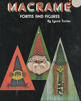 Macrame Book Forms & Figures Santa Witch Necklace Owl Fish Clown Angel