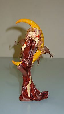 New Gothic Red Fairy Angel With Moon Ornament  - Nemesis Now Very Rare Gift Doll