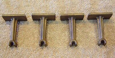 Power Models 2 1/2 inch Scale Live Steam Bronze Queen Posts, set of 4, NOS