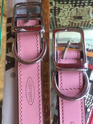 Pink Leather Collar 70 Cm