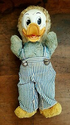 Vintage 1940s GUND Donald Duck Disney Character Rubber Face Stuffed Doll Rare