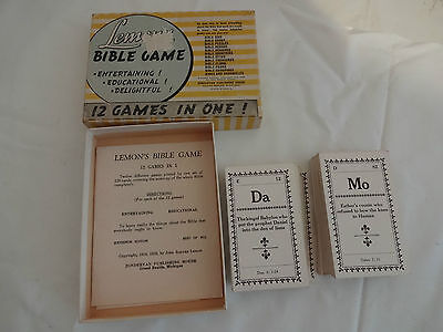 1929 vtg lemon's bible game 12 games in one zondervan 11th ed with instructions