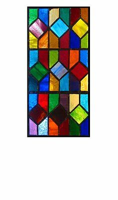 STAINED GLASS  PANEL. Multicoloured. Handmade by The Stained Glass Panel Studio.