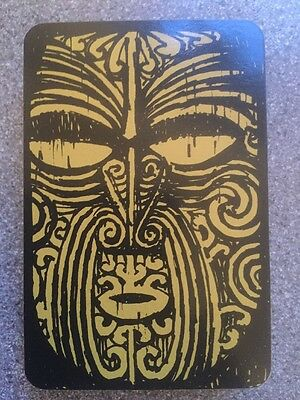 vintage NEW ZEALAND - MAORI KING MOVEMENT playing cards by CROXLEY + note card