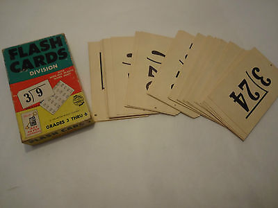 1959 Vintage Bradley Division Flash Cards Complete Set W/box Teachers Aid School