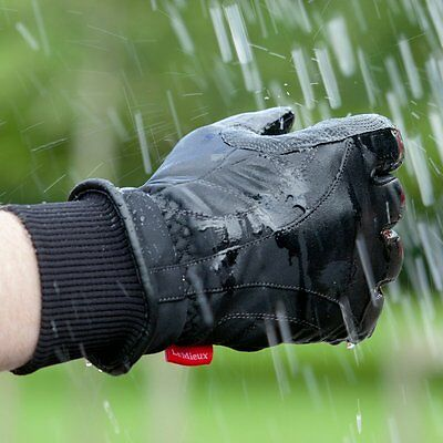 LeMieux PRO TOUCH WATERPROOF Riding GLOVES Tough Thermal Insulated UK5-9.5 Black