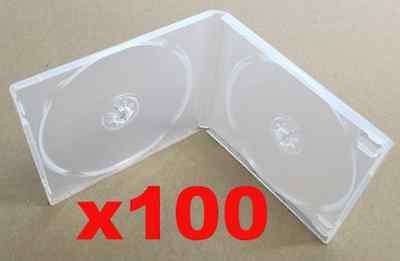NEW (x100) 2 CD/DVD Soft Poly Case w/Overlay