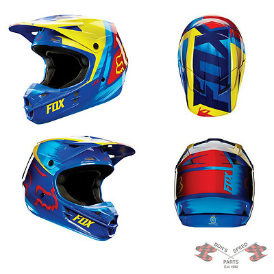 11018-586-XL V1 Vandal Helmet Yellow, Blue, & Red Size Extra Large