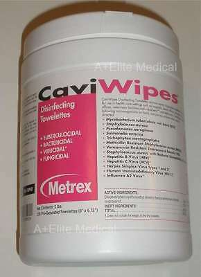 """METREX CaviWipes Disinfecting Disposable Towelettes Surface Wipes 6x6.75"""" 220/CN"""