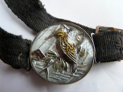 Victorian Glass  Crystal Intaglio Kingfisher Bracelet