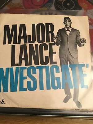 major lance investigate okeh original with picture sleeve northern soul
