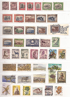 SOUTH WEST AFRICA ( english and africander) - LOT OF STAMPS