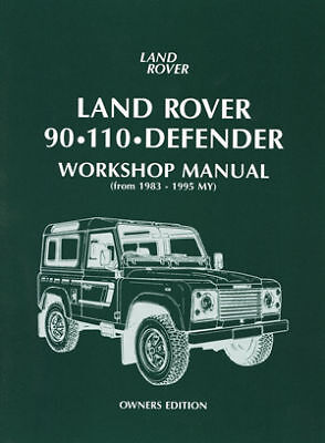 Land Rover 90 110 Defender Owners Workshop Manual LR90OWH NEW