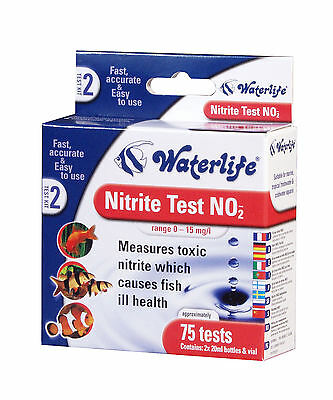 Waterlife Aquarium Nitrite Test Kit 75 Test Pack For Healthy Fish