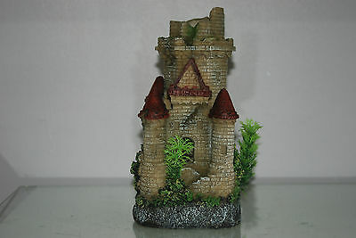 Stunning Detailed Aquarium Castle Rock 11x11x26 cms Suitable For All Tanks Orbs