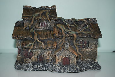 Old Detailed House with Roots Aquarium Decoration large 28 x 12 x 20.5 cms