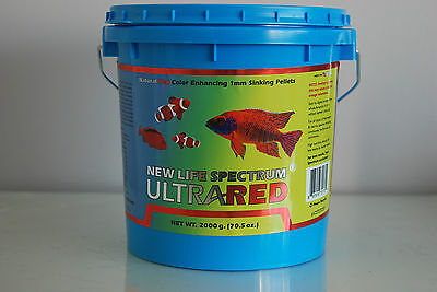 New Life Spectrum Ultra Red Formula 2000 gram Tub 1mm Sinking Pellet Size