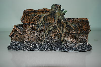 Detailed Aquarium Old House with Roots Decoration 19.5 x 7.5 x 10 cms