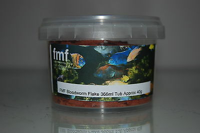 FMF Bloodworm  Aquarium Flake Suitable For All Fish 366ml Tub Approx 40g