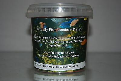 FMF Aquarium Discus Specialist Flake Fish Food 1180 ml Tub Approx 140g